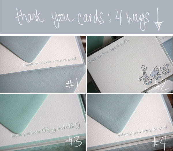 thank you cards 4 ways
