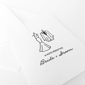 note from bride + groom