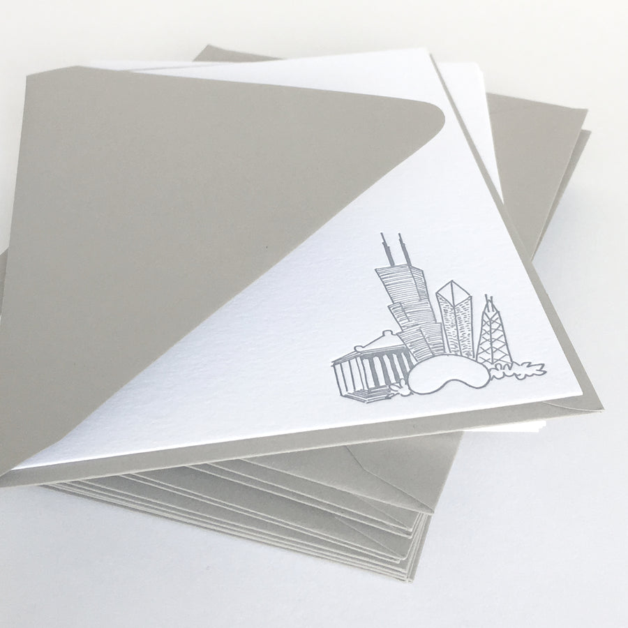 chicago letterpress notecards