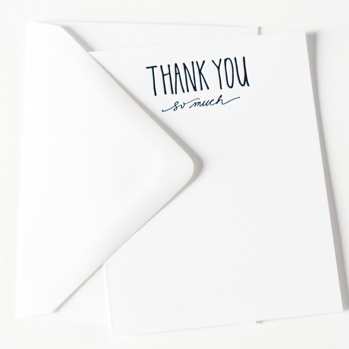 "hand lettered ""many thanks"""