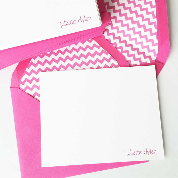 "personalized letterpress stationery  ""juliette"""