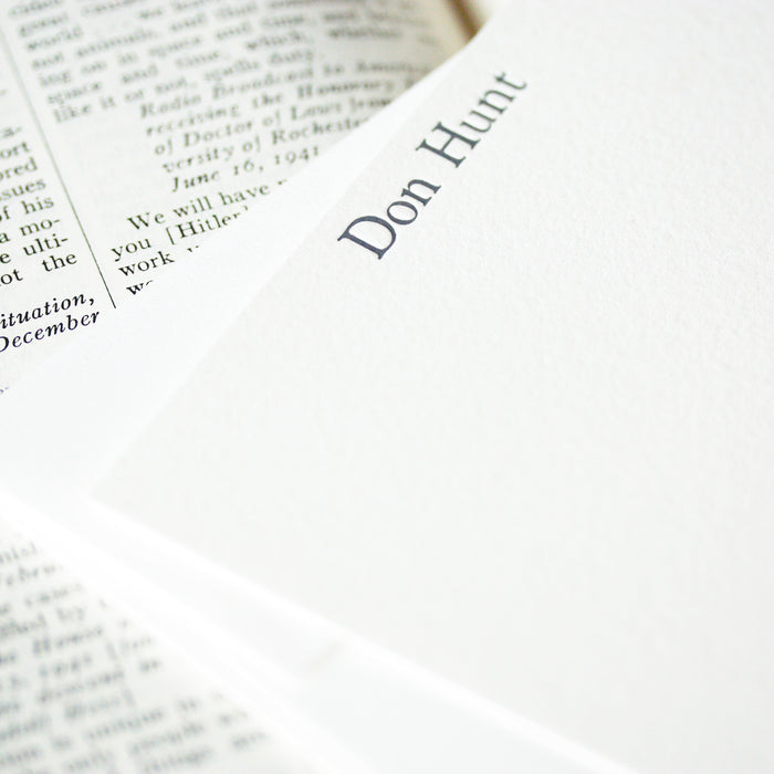 "personalized letterpress stationery ""don"""