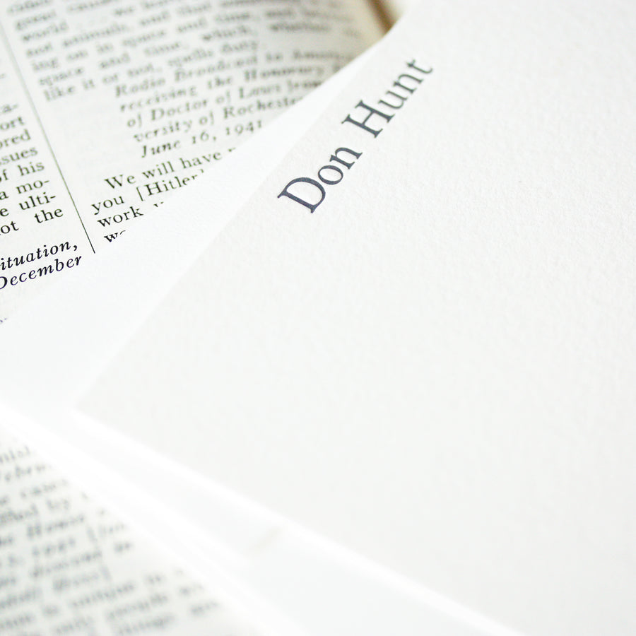 personalized letterpress stationery