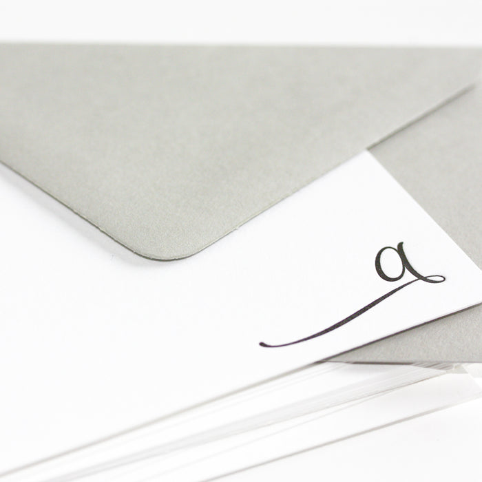"personalized letterpress stationery ""elegant"""