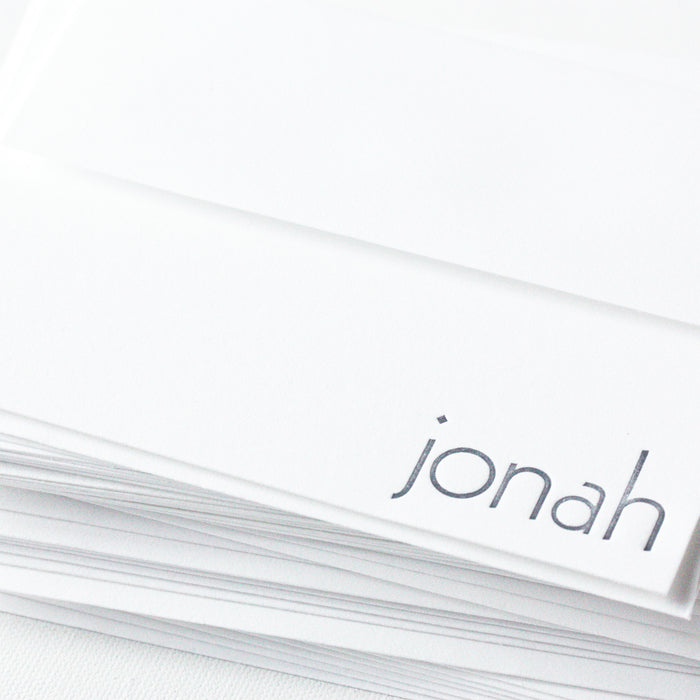 "personalized letterpress stationery ""jonah"""