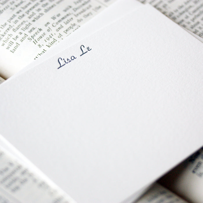 "personalized letterpress stationery ""lisa"""