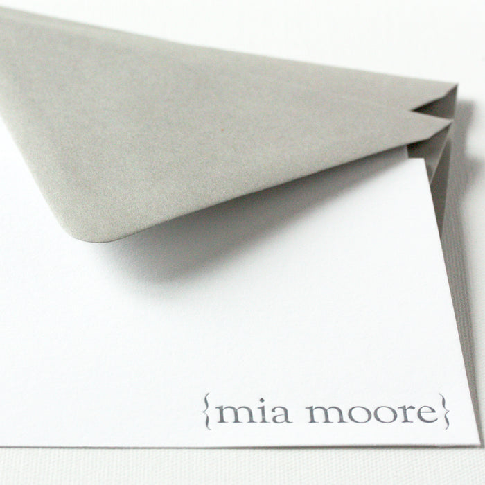 "personalized letterpress stationery ""mia"""