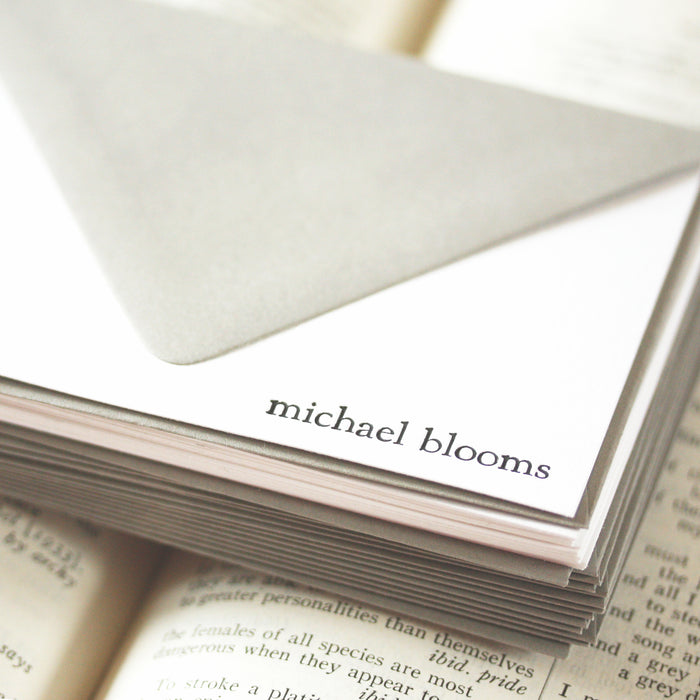 "personalized letterpress stationery ""michael"""