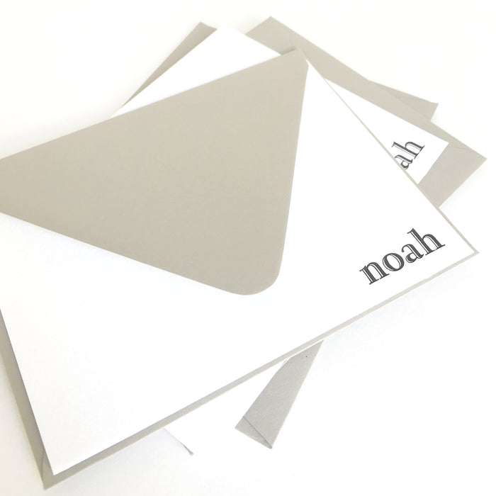 "personalized letterpress stationery ""noah"""