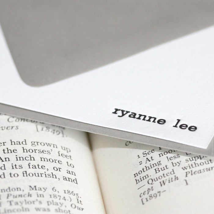 "personalized letterpress stationery ""ryanne"""