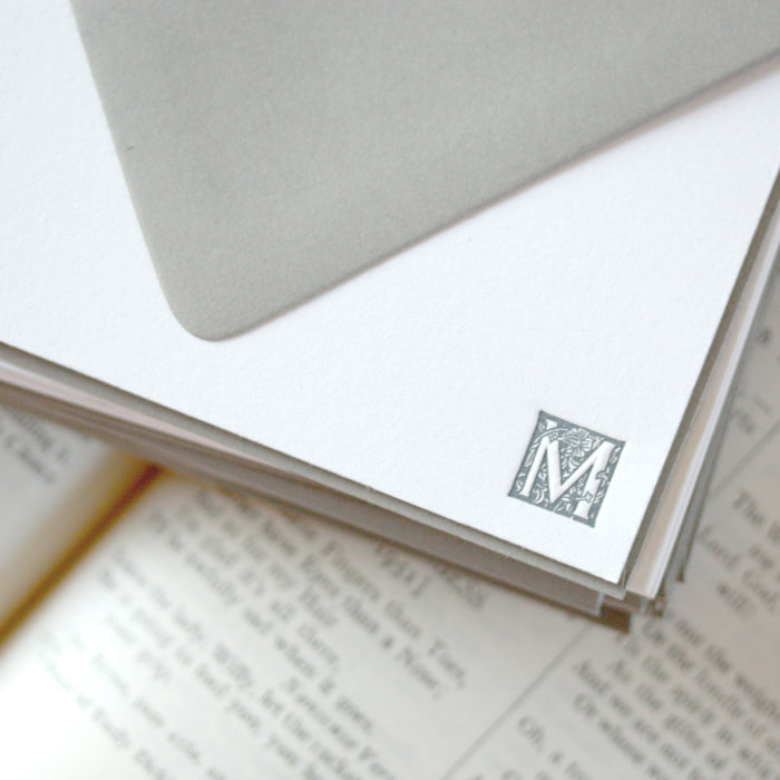 "personalized letterpress stationery ""small block"""