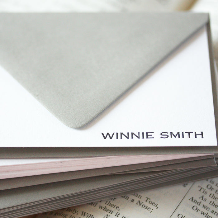 "personalized letterpress stationery ""winnie"""