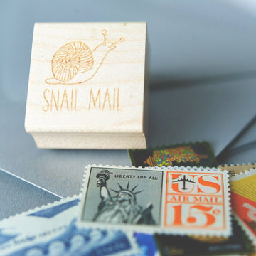 rubber stamp - snail mail
