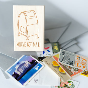 rubber stamp - you've got mail
