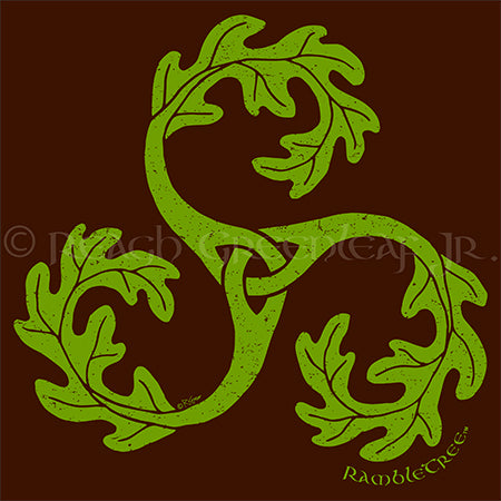RambleTree triple-spiral oak leaf