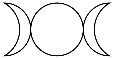 ic:A popular Triple Goddess Moon symbol