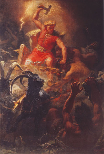 ic: Thor's Battle Against the Jötnar (1872) by Mårten Eskil Winge
