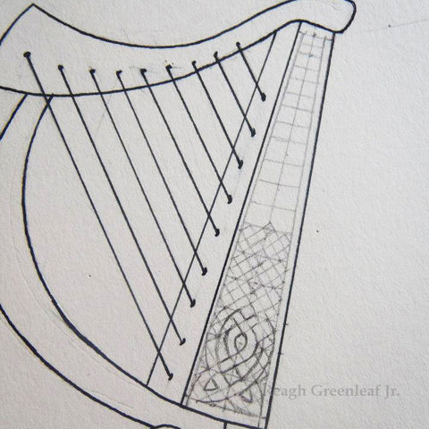 Celtic Harp by Reagh Greenleaf Jr.