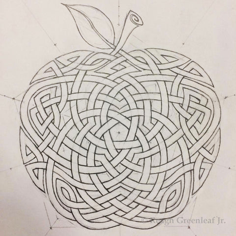 Morgan's Apple original drawing by Reagh Greenleaf Jr.