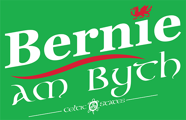 Welsh Bernie rally sign