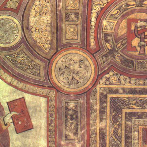 ic:Close-up: Folio 29 of the Book of Kells. The Incipit to the Gospel of Matthew