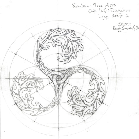 Ramblin' Tree Arts original logo draft