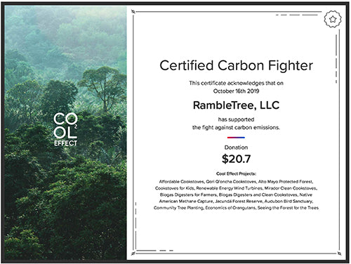 Cool Effect CO2 reduction certificate