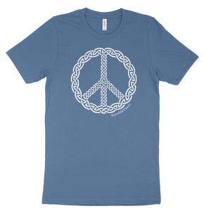 Peace Knot War - Unisex Tee (white print)