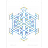Snowflake Hex (full color) - Art Print
