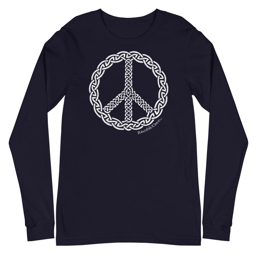 Peace Knot War - Long Sleeve (white print)