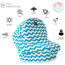 Multi-Use Baby Green and White Nursing Cover