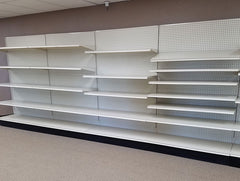 used lozier wall shelving