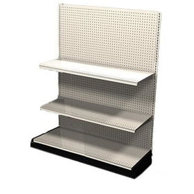 <strong>Used 4' wall section with base and 2 adjustable shelves</strong>