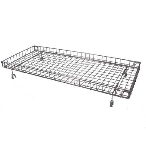 "24"" W x 54"" L Folding Top Basket For Double Bar Racks - Chrome"