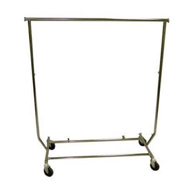 Folding Salesman Rack - Single Bar Garment Rack