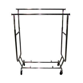 Double Salesman Rack - Heavy Duty Folding Garment Rack