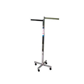 chrome 2 way garment clothing rack