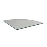 16 inch quarter round cubbie glass