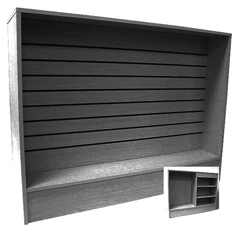 4' Long Wrap Counter with Slatwall Front