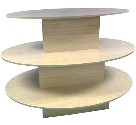 "3 Tier Oval Table 60"" L x 42"" W x 42"" H"