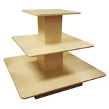 "3 Tier Square Table 48"" L x 48"" W x 42"" H"