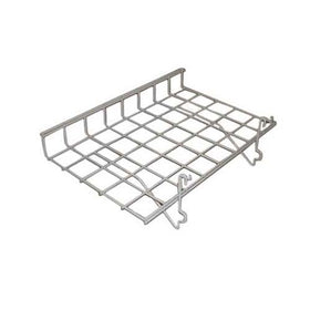 white 15 x 24 grid slatwall shelf with lip