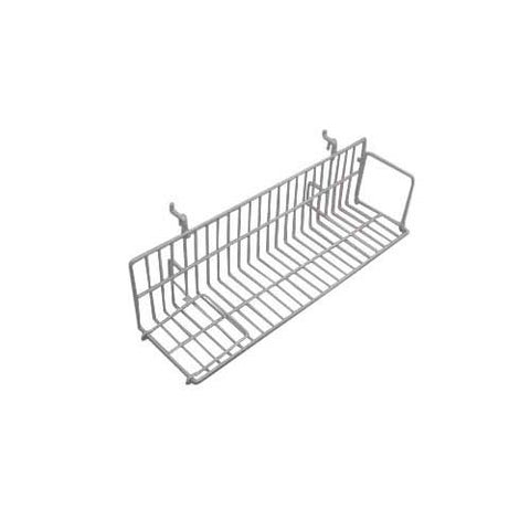 gridwall slatwall video shelf white 24 inch