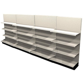 <strong>Used 16' wall section with base and 12 adjustable shelves</strong>