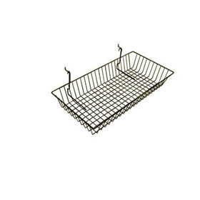 24 x 12 x 4 black wire basket