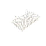 24 x 12 x 4 white wire basket