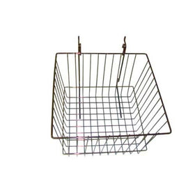 12 x 12 x 8 chrome grid slatwall basket