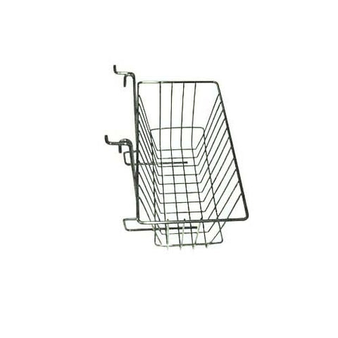12 x 6 x 6 chrome slatwall grid basket