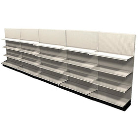<strong>Used 20' wall section with base and 15 adjustable shelves</strong>