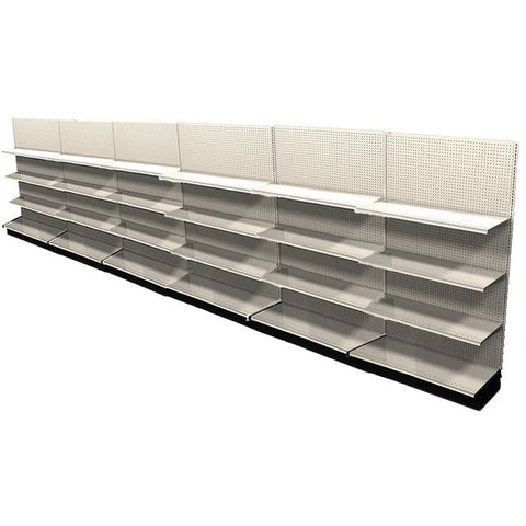 <strong>Used 24' wall section with base and 18 adjustable shelves</strong>